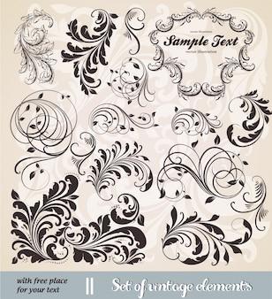 Typografische document bruiloft bloemen kaart