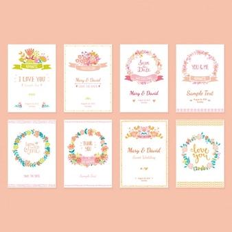 Uitnodigingen van het huwelijk inzameling