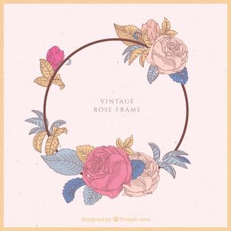 Uitstekend frame hand getrokken rozen