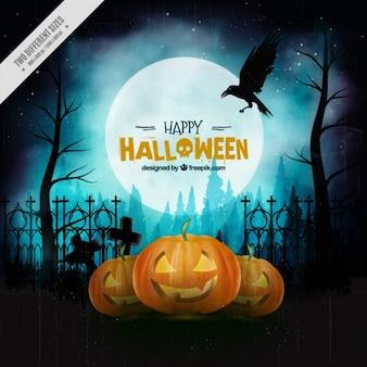Uitstekende achtergrond voor een Happy Halloween