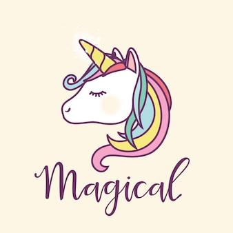 Unicorn achtergrond ontwerp