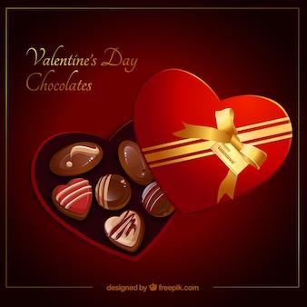 Valentijnsdag doos chocolade
