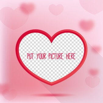 Valentine Day Heart Picture frame