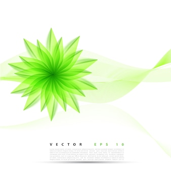 Vector abstracte achtergrond bloem.