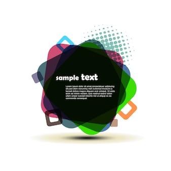 Vector abstracte achtergrond ontwerp illustratie