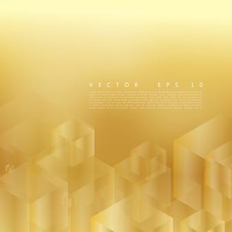 Vector abstracte geometrische gouden achtergrond.