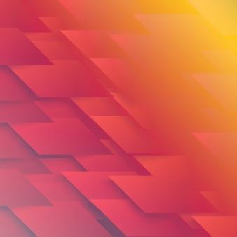 Vector Abstracte geometrische vorm van rood
