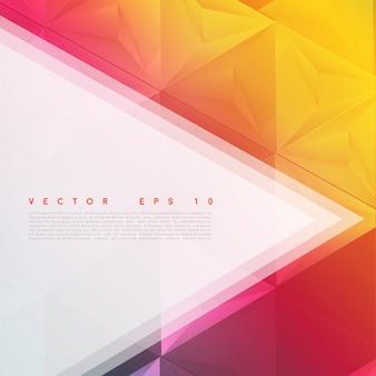 Vector achtergrond abstracte veelhoek driehoeken.