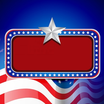 Vector Amerikaanse vlag ontwerp met ruimte voor uw tekst