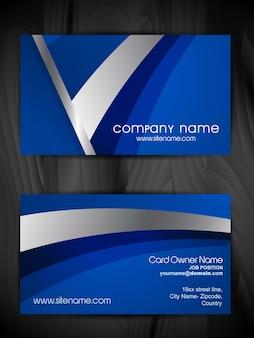 Vector blauw visitekaartje sjabloon ontwerp