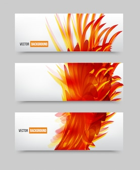 Vector bloem set banner