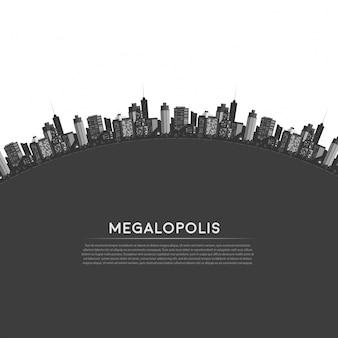 Vector cirkel moderne stad.
