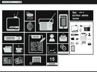 Vector collectie web iconen. media nieuws