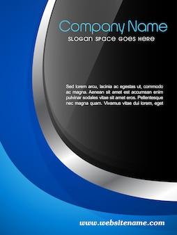 Vector company magazine cover brochure flyer en sjabloon ontwerp