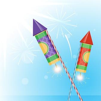 Vector crackers achtergrond illustratie ontwerp