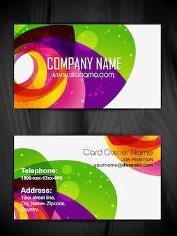 Vector creatief visitekaartje ontwerp