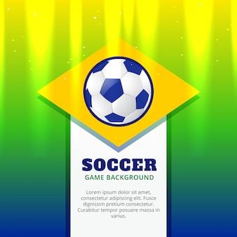Vector creatief voetbalontwerp achtergrond