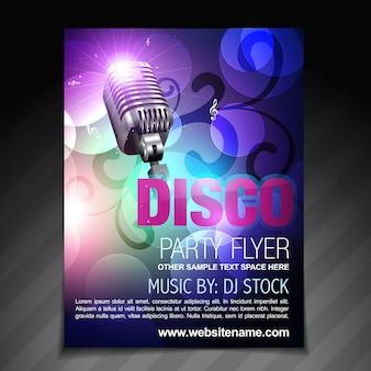 Vector disco partij flyer brochure en poster sjabloon
