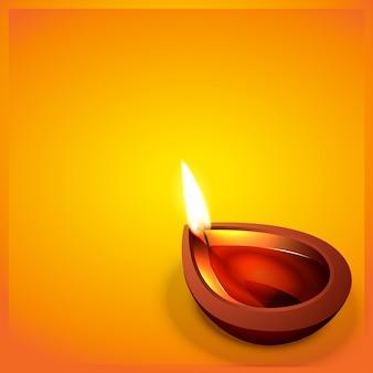 Vector diwali festval diya met ruimte voor uw tekst