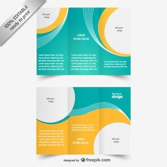 Vector drieën gevouwen brochure sjabloon