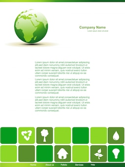 Vector editable aarde ontwerp pagina