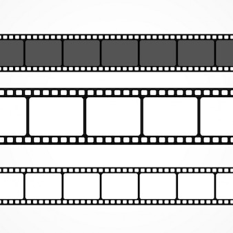 Vector film strip collectie in verschillende maten