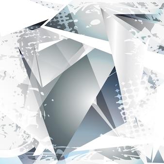 Vector glas abstracte vorm ontwerp kunst