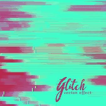 Vector glitch achtergrond met duotone schaduw