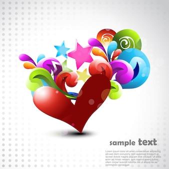 Vector hart artistieke illustratie ontwerp