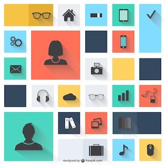 Vector iconen platte ontwerp