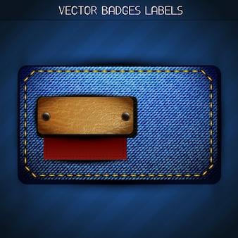Vector jeans stijl label ontwerp