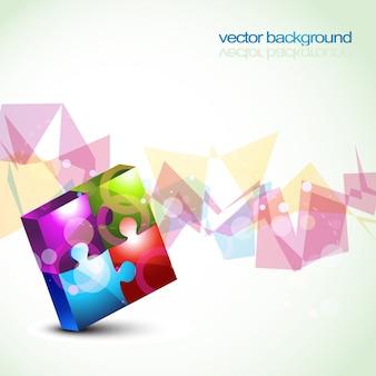 Vector kleurrijke puzzel vormen eps10 achtergrond