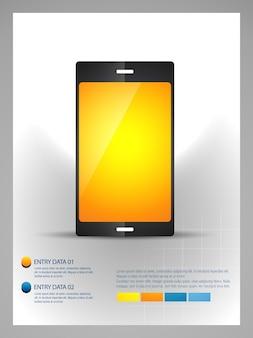 Vector mobiele telefoon infographic template ontwerp