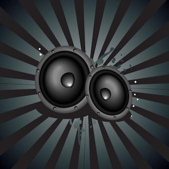 Vector muziek luidspreker backgound
