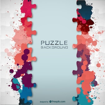 Vector puzzel kleur splatter template