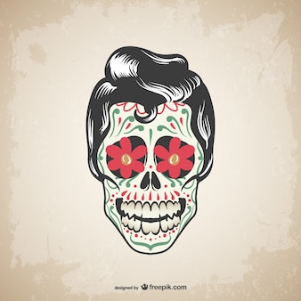 Vector schedel tattoo design