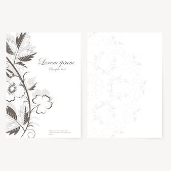 Vector sjabloon voor map, visitekaartje en uitnodiging