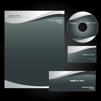 Vector stijl sjabloon ontwerp set