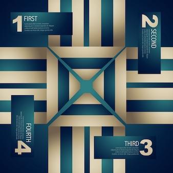 Vector stijlvolle infographic design art
