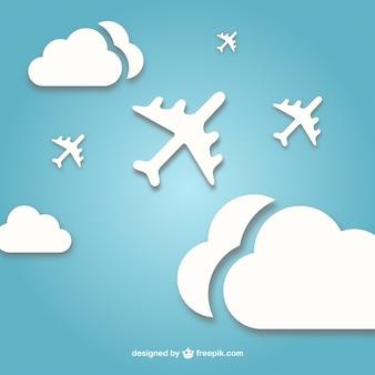 Vector straalvliegtuigen gratis