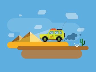 Vector transport illustratie voor ontwerp