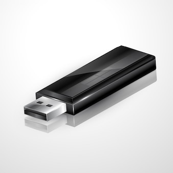 Vector usb flash drive illustratie