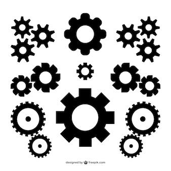 Vector versnellingen gratis te downloaden