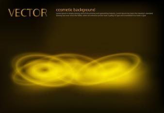 Vector zwarte achtergrond met gouden pailletten