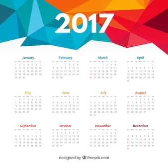 Veelhoekige 2017 kalender