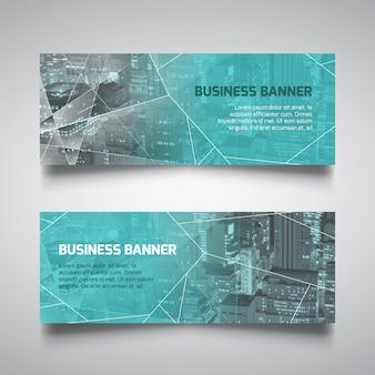 Veelhoekige bedrijf banner