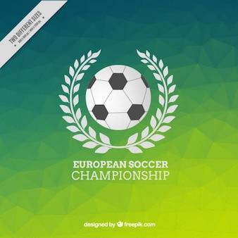 Veelhoekige groene achtergrond van het Europese kampioenschap voetbal