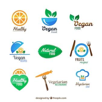 Vegetarisch restaurant logos