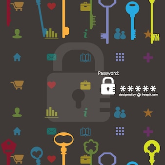 Veiligheid vector sleutels patroon gratis