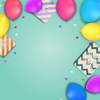 Verjaardag achtergrond ontwerp